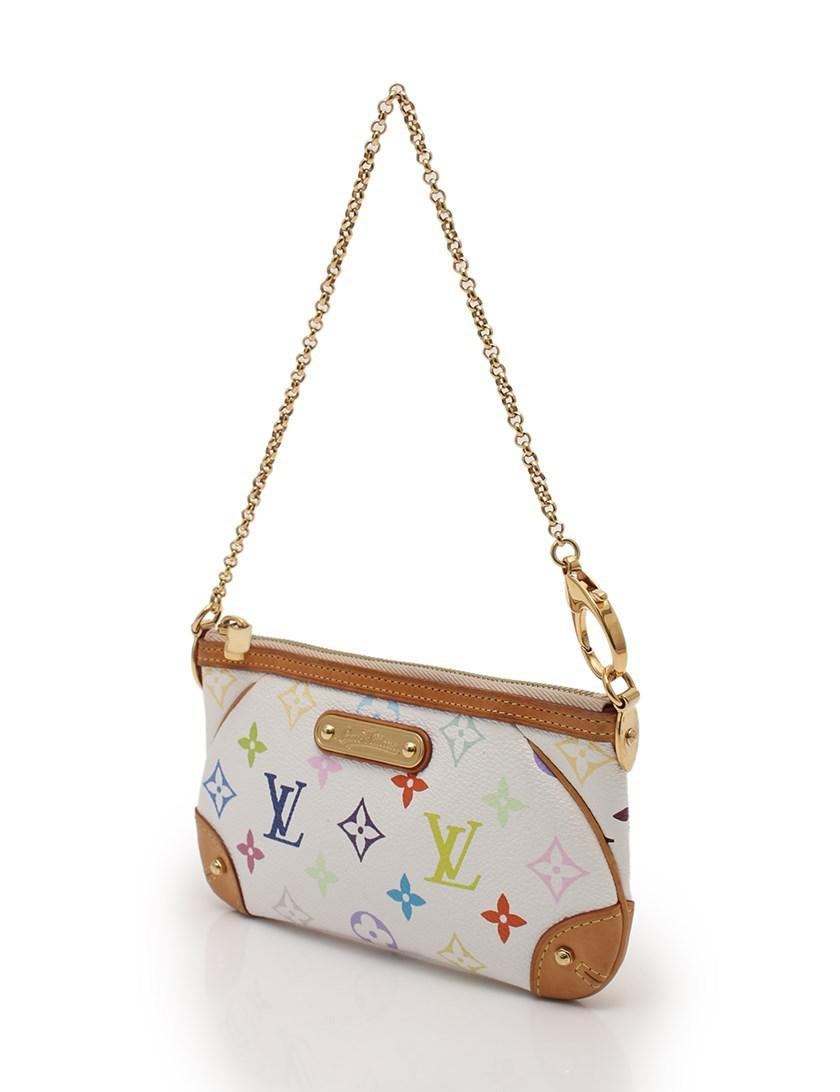 Lyst - Louis Vuitton Pochette Milla Mm Handbag Monogram Multi-color ... 161e0efea7677