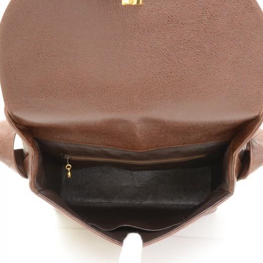 a1c894405152 Chanel Vintage Dark Brown Quilted Caviar Leather Shoulder Flap Bag ...