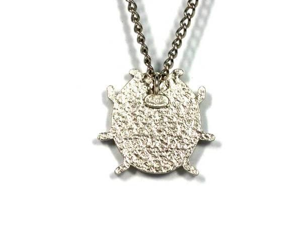 Lyst chanel necklace pendant coco mark ladybug silver in metallic gallery aloadofball Images