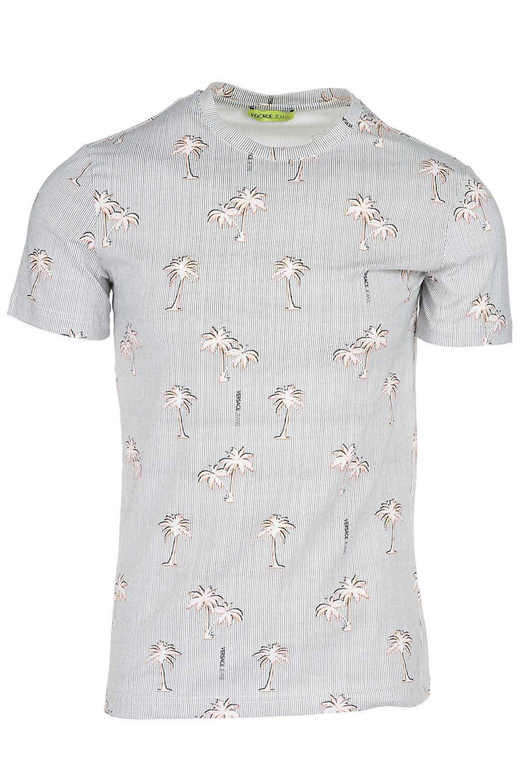 def1cf6d Lyst - Versace Jeans Men's Short Sleeve T-shirt Crew Neckline Jumper ...