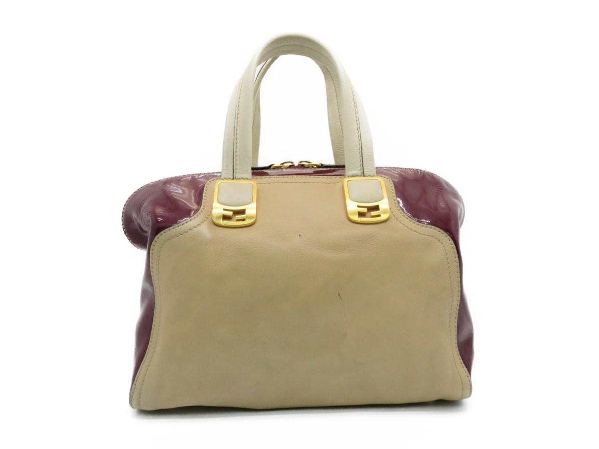 13837f75c4d3 Lyst - Fendi Chameleon 2 Way Shoulder Bag Calfskin Leather Brown ...