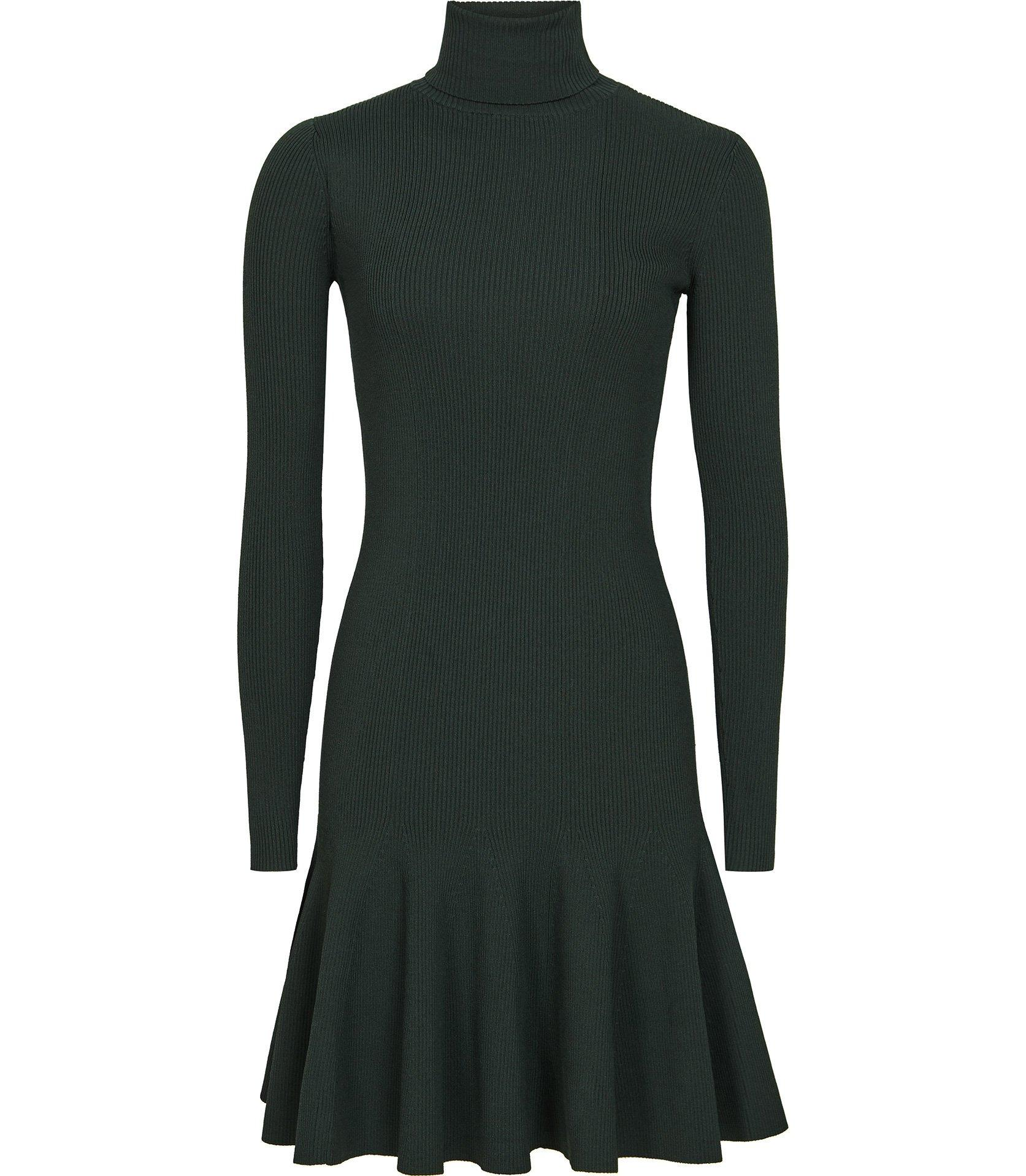 520da9aa09 Reiss - Green Mimi - Knitted Flippy Hem Dress - Lyst. View fullscreen