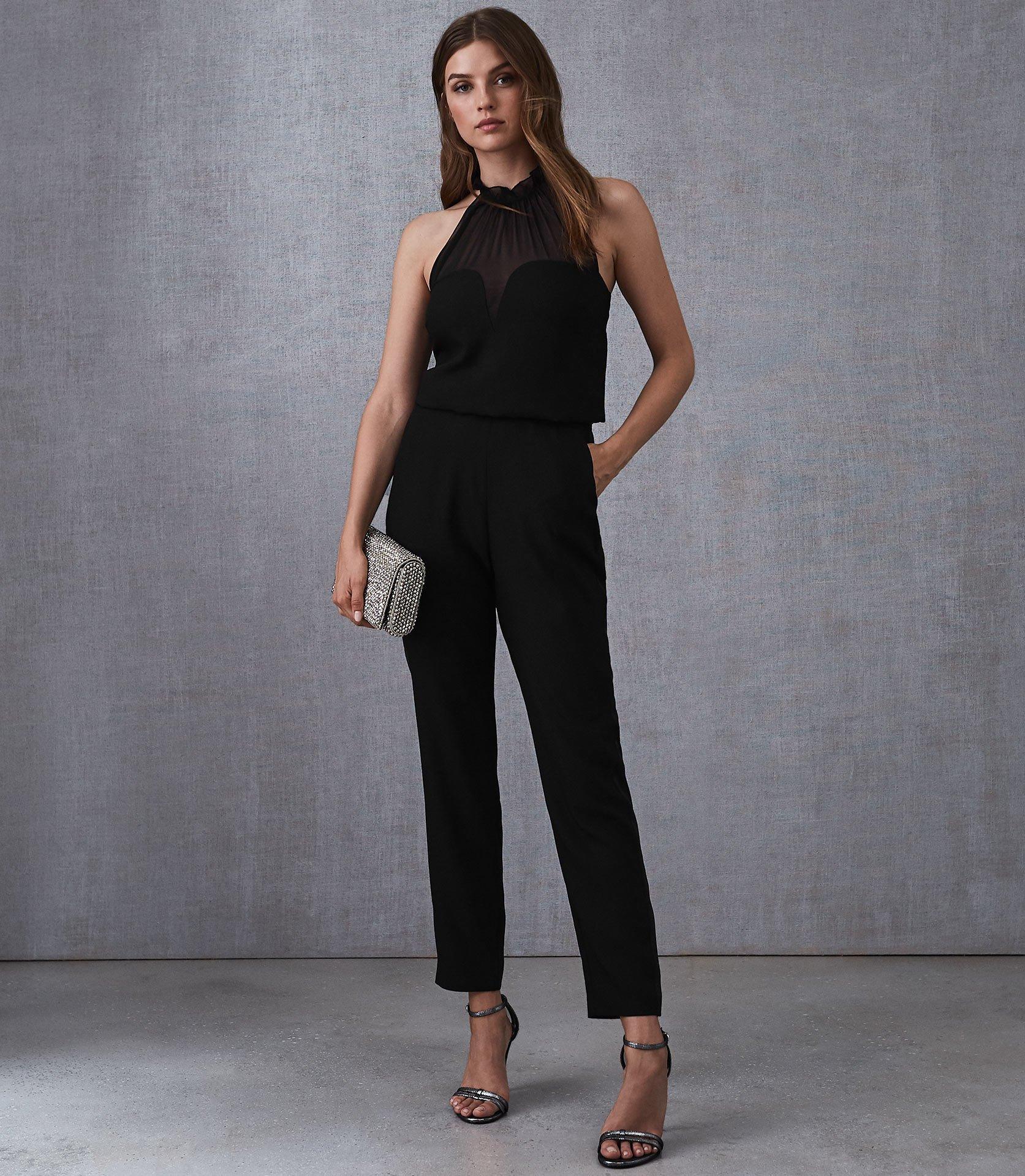 2057091c6d2 Lyst - Reiss Prisca - Halterneck Jumpsuit in Black