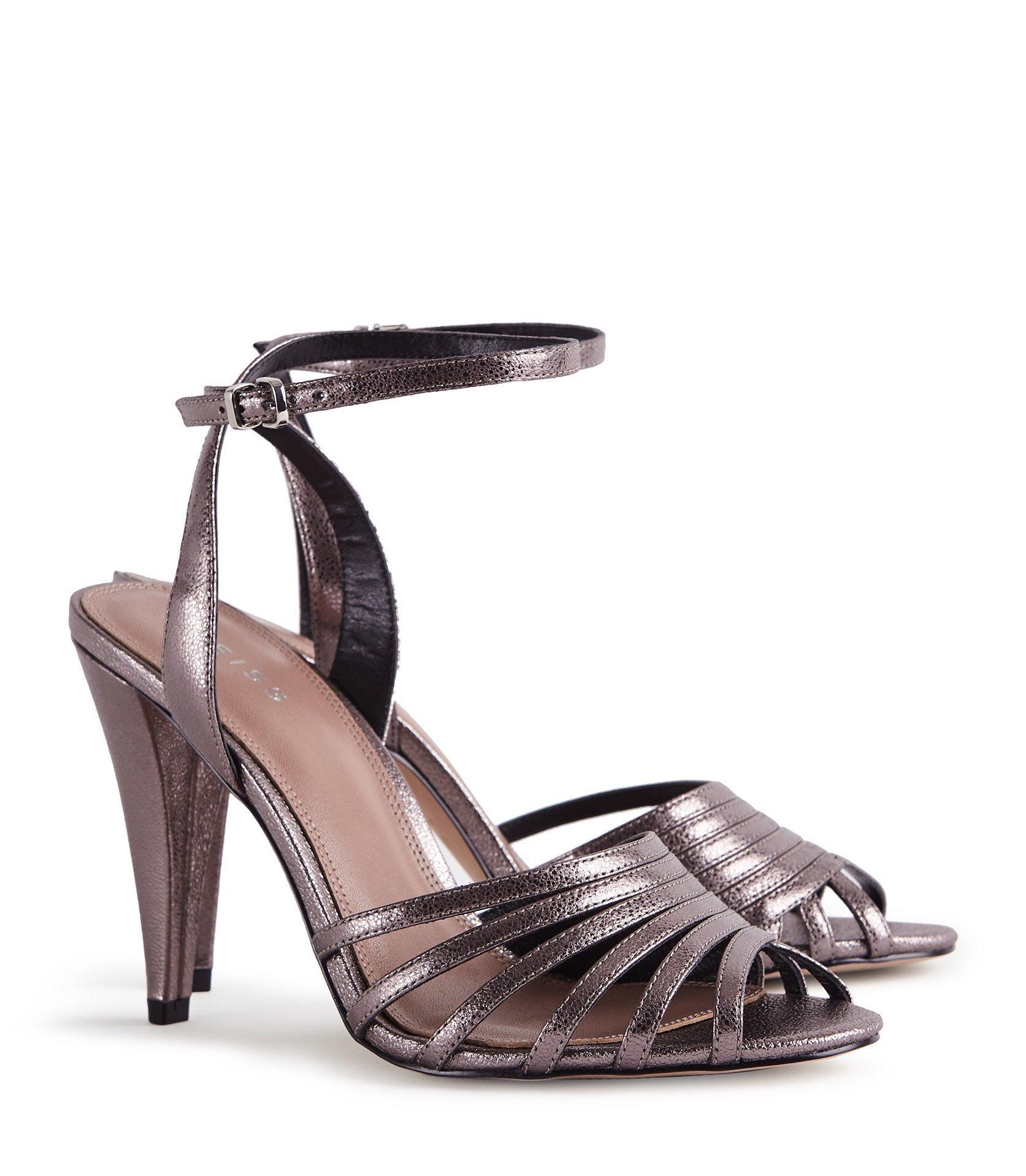 8440f879110285 Reiss - Garbo - Metallic Strappy High Heeled Sandals - Lyst. View fullscreen