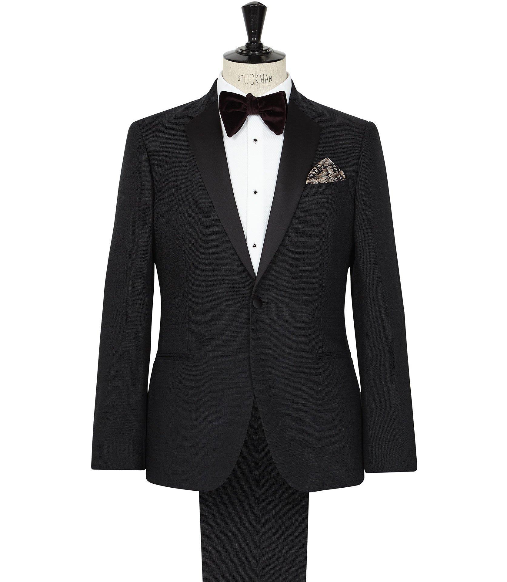52d50b5c0962 Lyst - Reiss Pedestrian - Textured Dinner Suit in Blue for Men