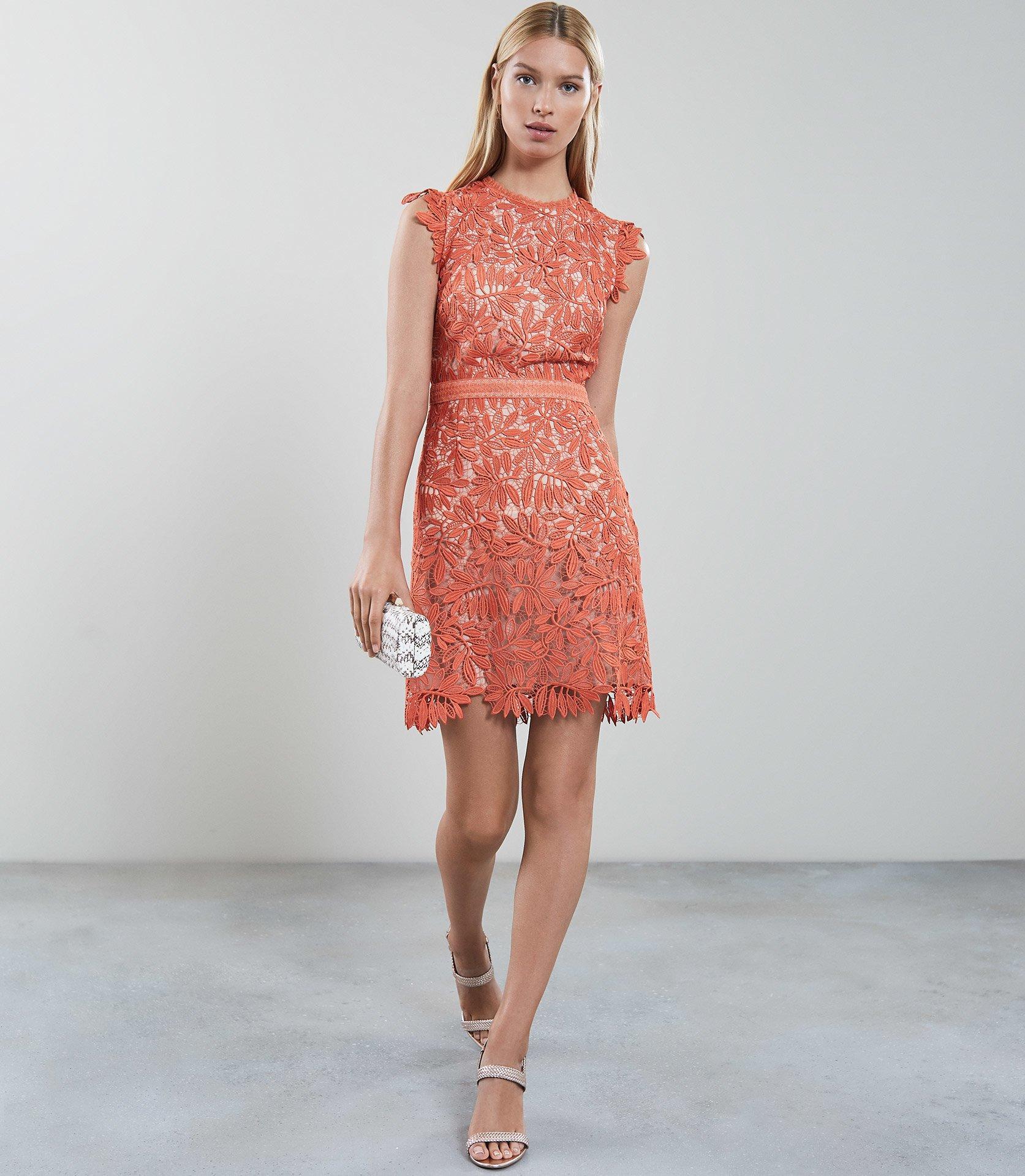 b4a93eeba96 Reiss Maika - Open Back Lace Dress - Lyst