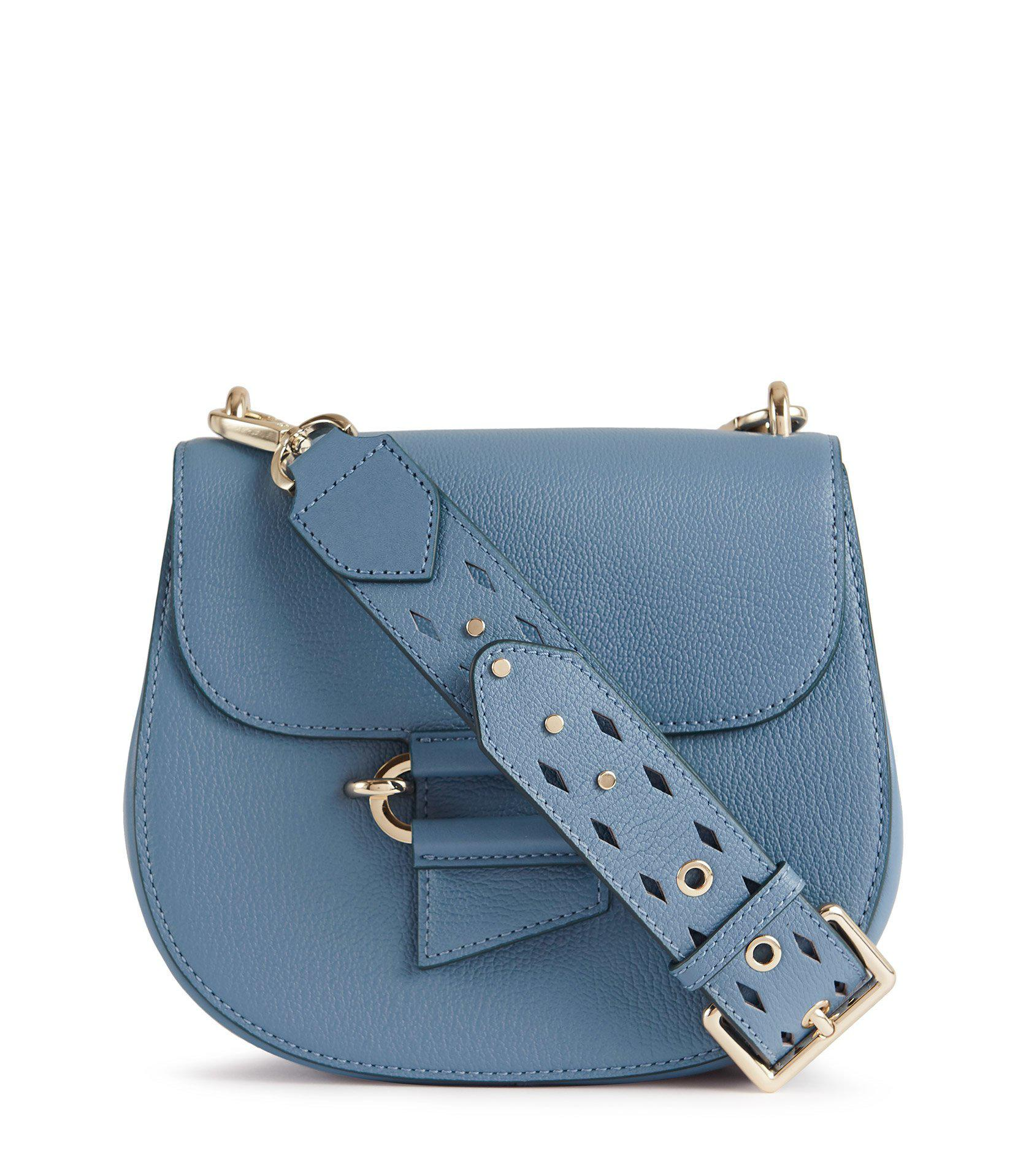 Maltby - Leather Cross-body Bag in Blue, Womens Reiss