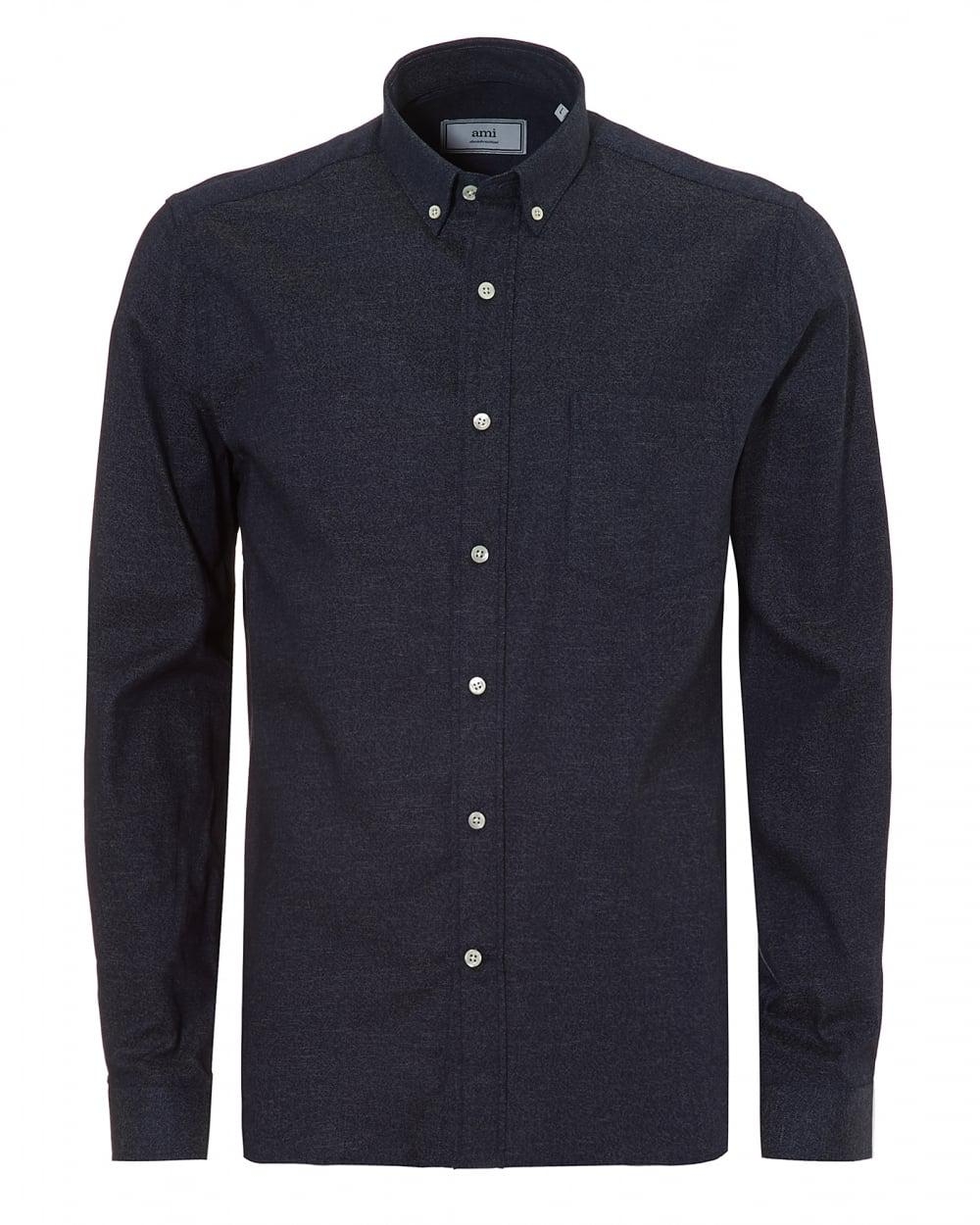 Lyst ami flannel denim indigo shirt in blue for men for Flannel shirt and jeans
