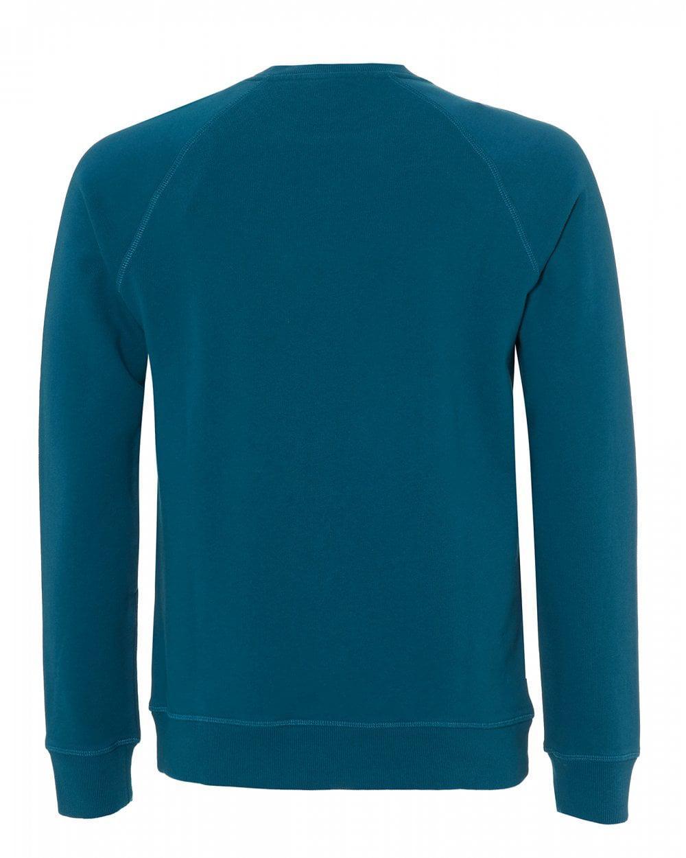 e787292e BOSS Wyan Sweatshirt, French Terry Teal Blue Sweat in Blue for Men - Lyst