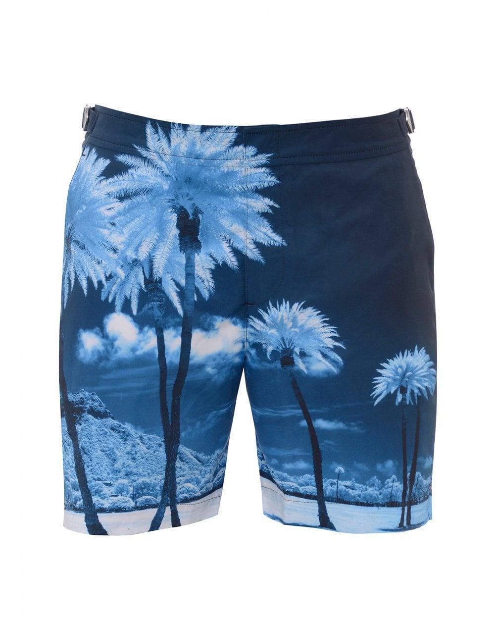 bb5b44418e Orlebar Brown. Men's Bulldog Blue Palms Swimshorts, Mid-length Swimming  Trunks