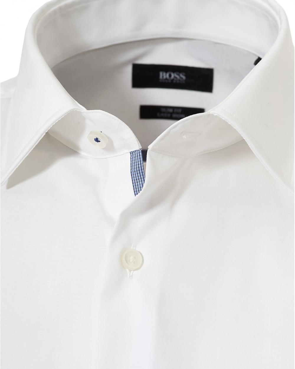 86c4b2f22 BOSS - White Jerris Slim Fit Inner Trim Shirt for Men - Lyst. View  fullscreen
