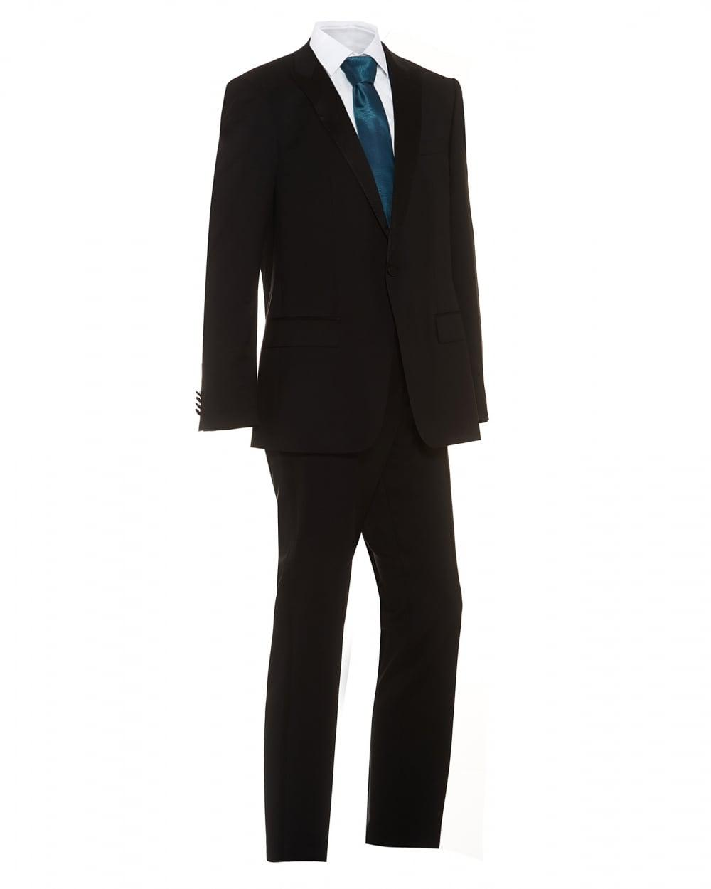 Lyst boss black suit houston glorious black slim fit for Dinner shirts slim fit