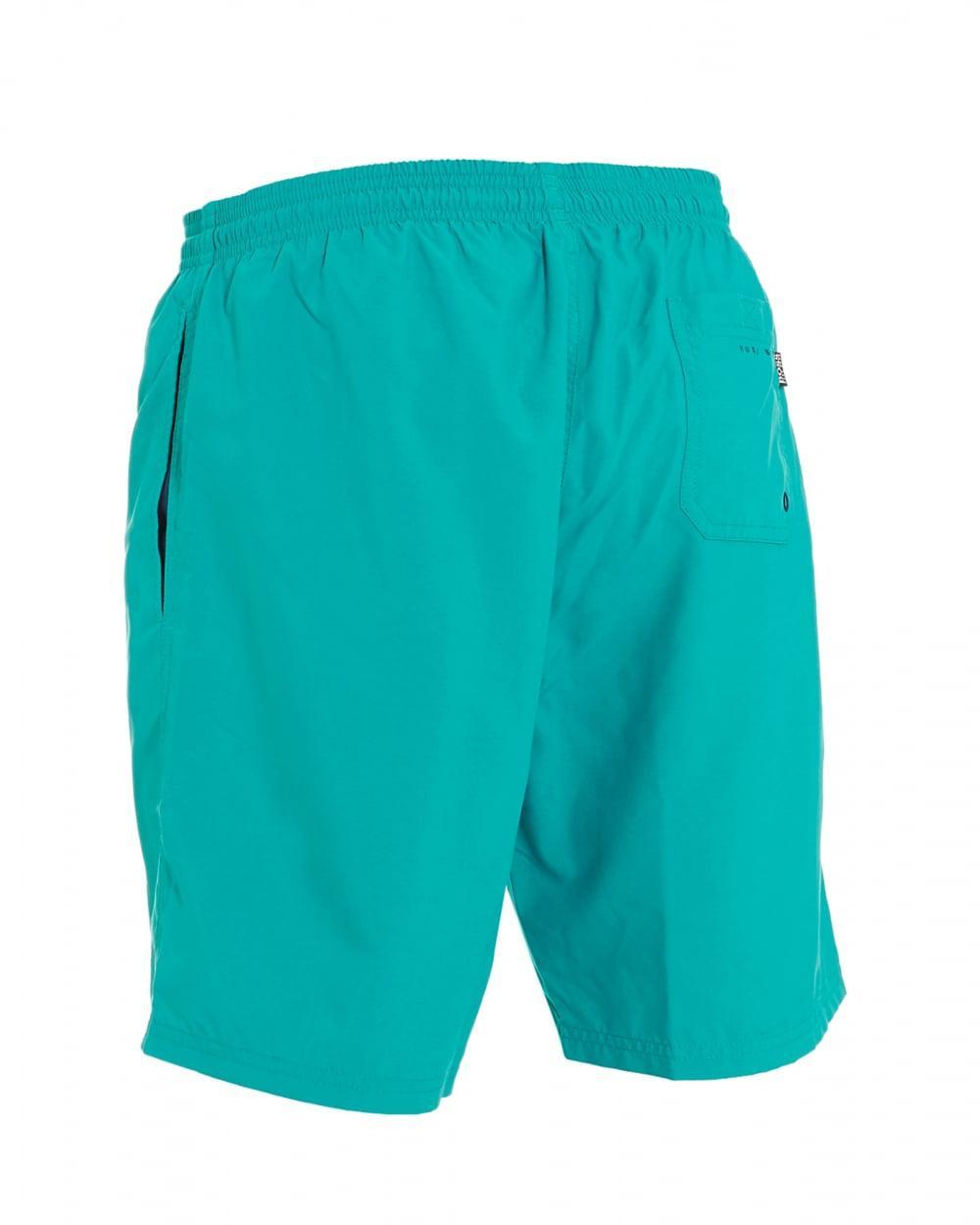 2bf04d46fb BOSS Orca Aqua Blue Mid Length Swim Shorts in Blue for Men - Lyst