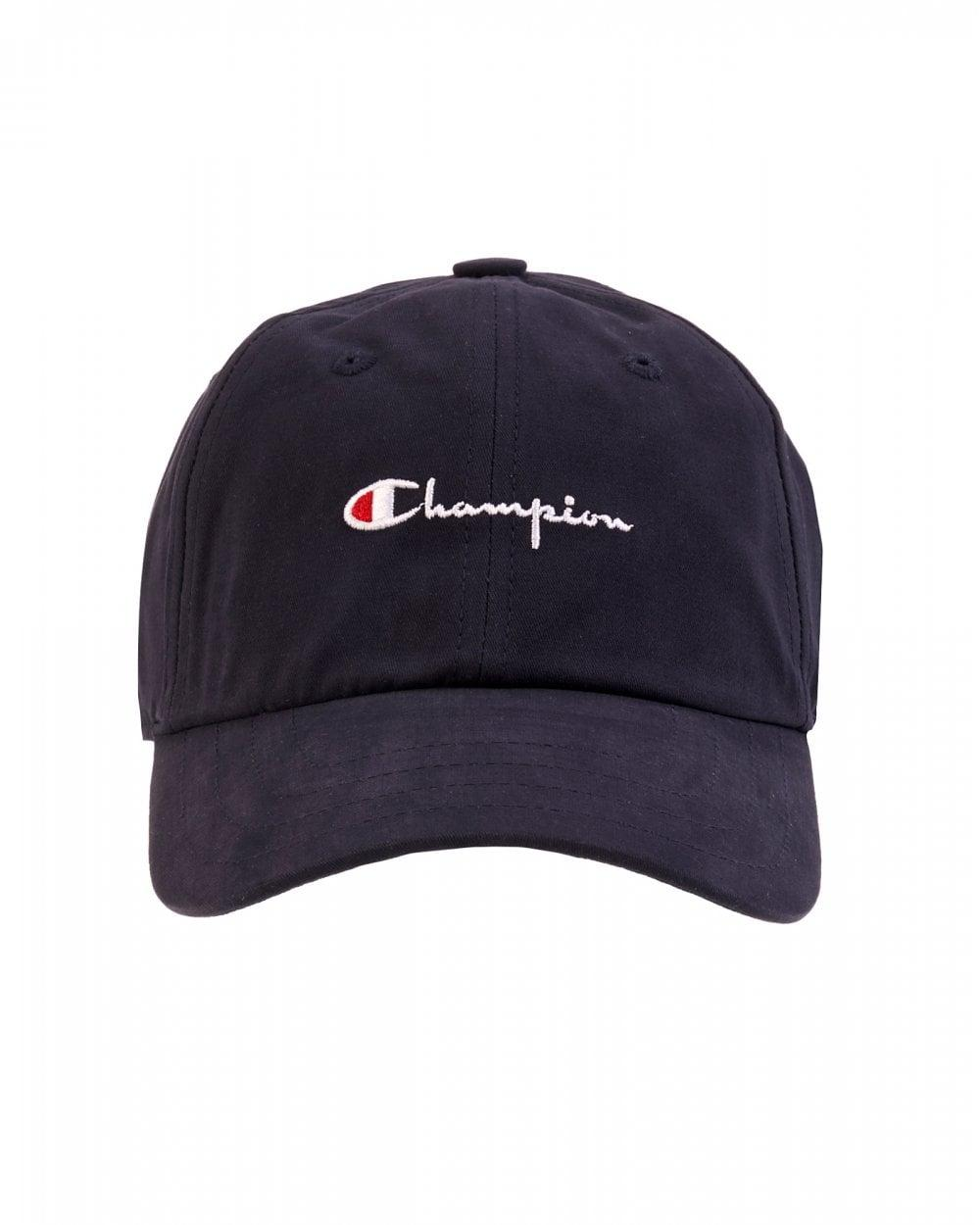 cf6e12f1ba5c6 Lyst - Champion Navy Script Hat