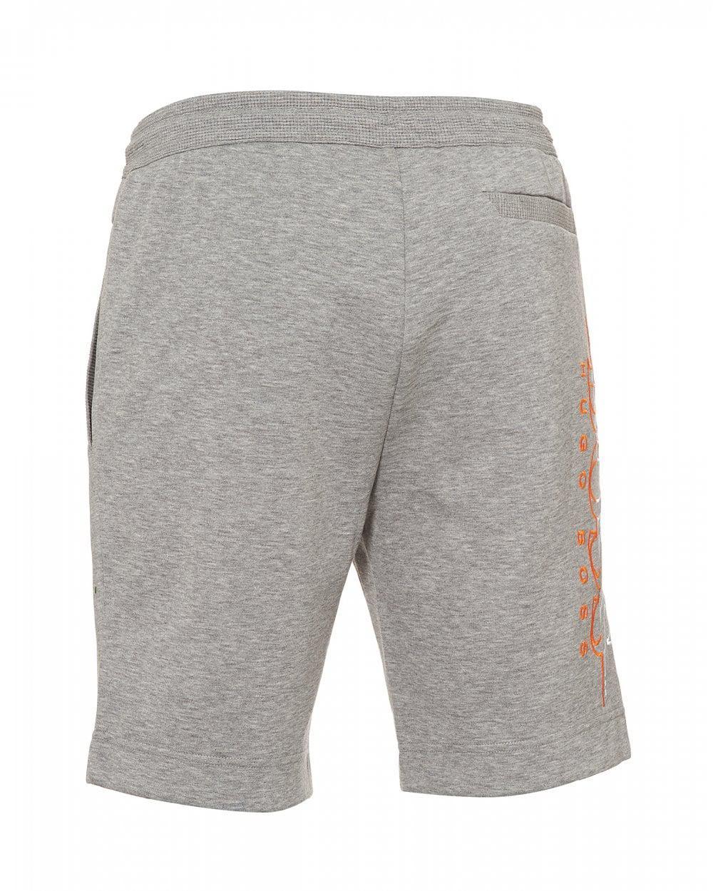 6e23f6745 BOSS Headlo Logo Slim Fit Grey Sweat Shorts in Gray for Men - Lyst