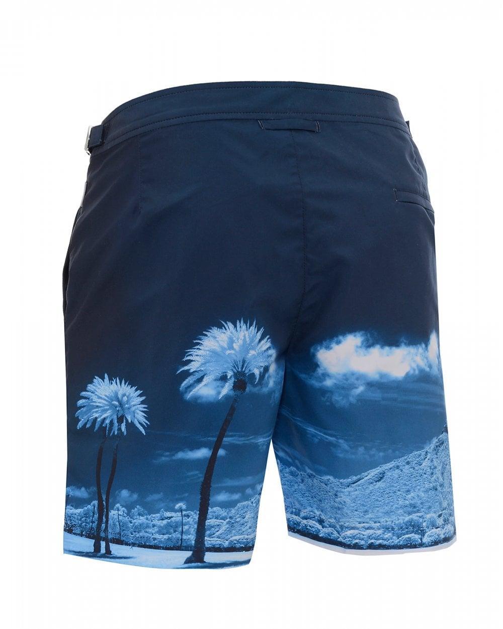 79072349199 Lyst - Orlebar Brown Bulldog Blue Palms Swimshorts, Mid-length Swimming  Trunks in Blue for Men