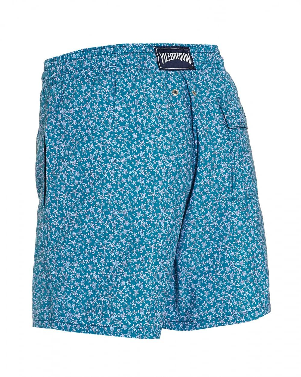 31803ecc27 Vilebrequin Moorea Micro Turtles-print Swim Shorts in Blue for Men - Lyst