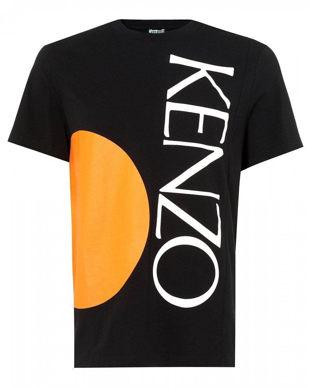 07baa9ba8 KENZO - Black Logo Print T-shirt for Men - Lyst. View fullscreen
