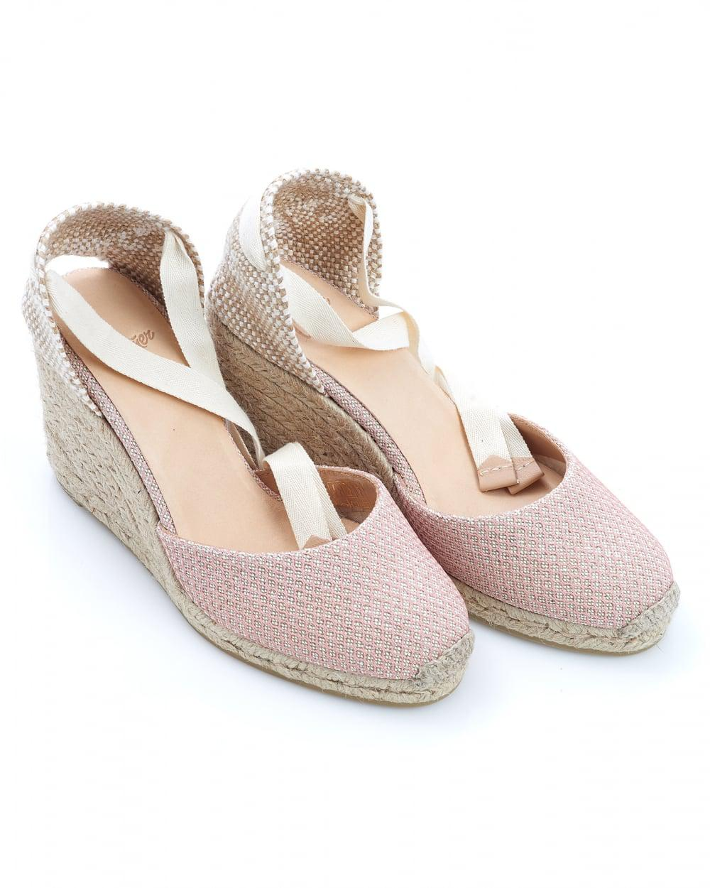 3aaad8367 Castaner Carina8 Espadrilles, Nude Textured Ankle Tie Wedges in ...
