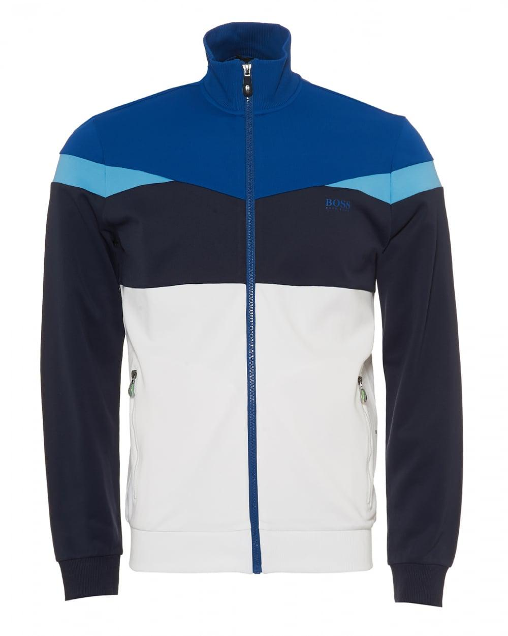 8963e0b8 Lyst - BOSS Skarley Tracktop, Abstract Panels Navy White Blue ...