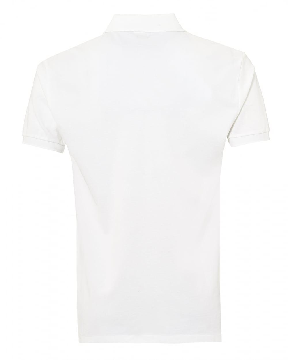 3cbf99c9680f ... uk lyst ralph lauren white plain mesh polo stretch polo shirt in white  for men 12b16