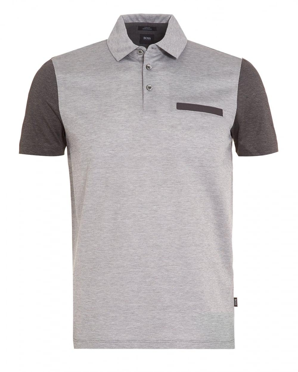37958ce9 BOSS Place 11 Front Pocket Polo Shirt Grey in Gray for Men - Lyst
