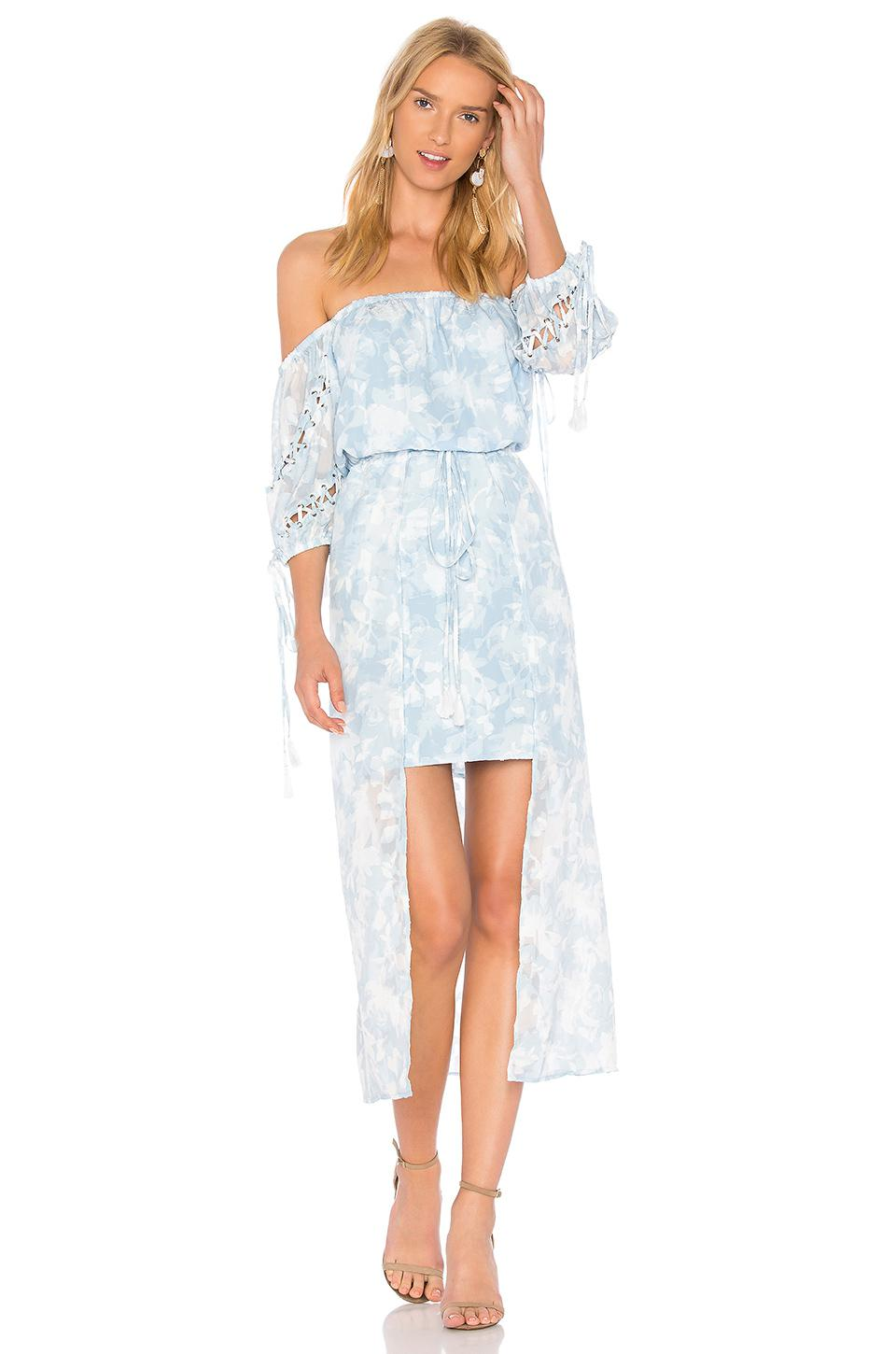 6fa4e6e6b635 Lyst - We Are Kindred Morning Frost Off Shoulder Dress in Blue