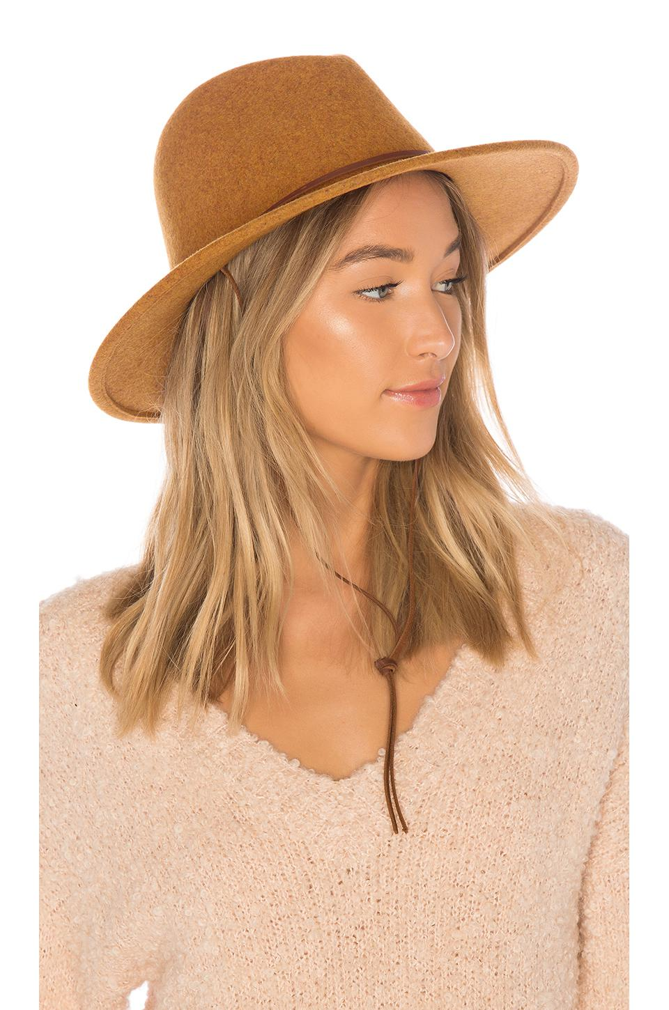 2307e6e104a791 ... inexpensive brixton field hat in brown lyst b1aba 3a21f