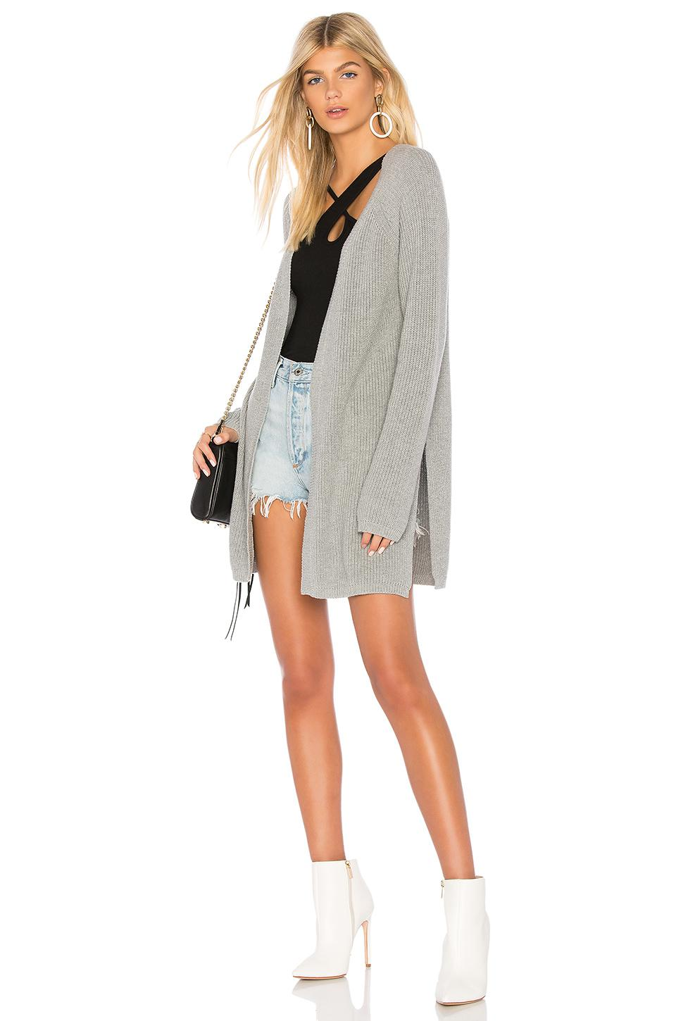d93b919285 525 America Open Front Cardigan in Gray - Lyst