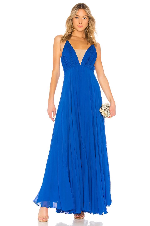 5fc7a2535a48e JILL Jill Stuart Crinkle Chiffon Gown in Blue - Lyst