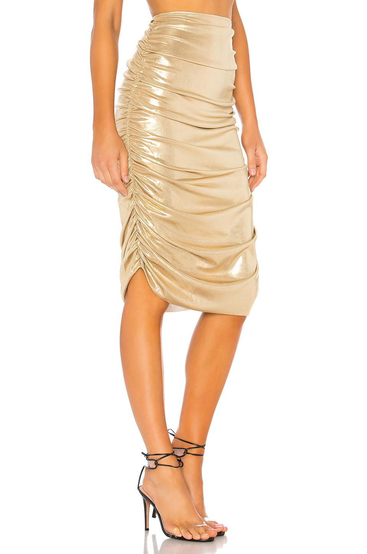 f8d4cf5434 Norma Kamali Shirred Skirt in Metallic - Lyst
