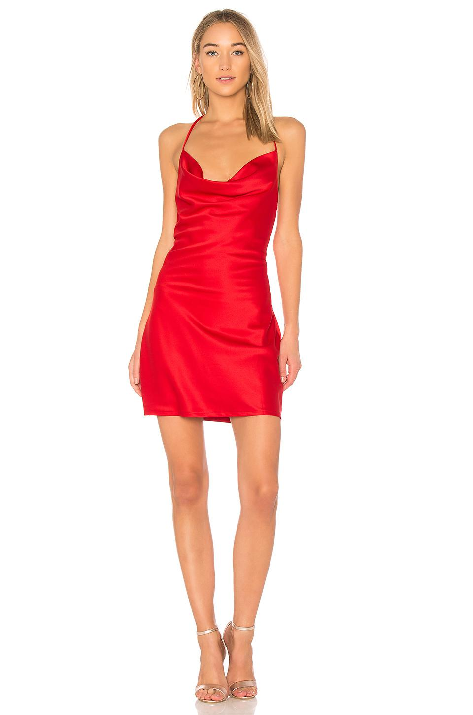 5b0d86f85574c Wyldr Superstitious Cowl Neck Slip Dress in Red - Lyst