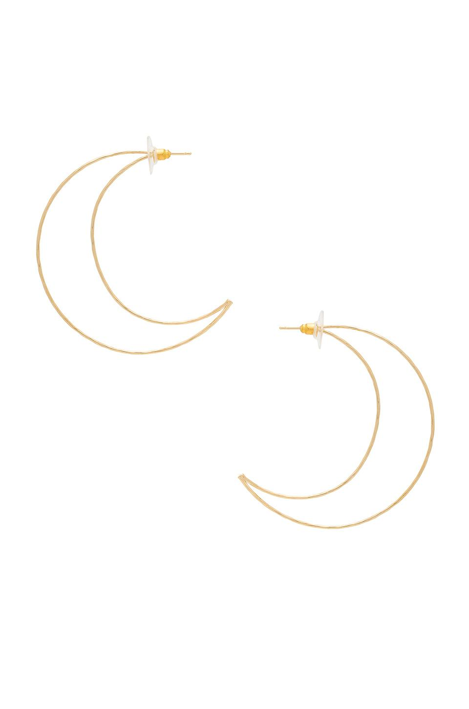 Raindrop Earring in Metallic Gold 8 Other Reasons G4XIB
