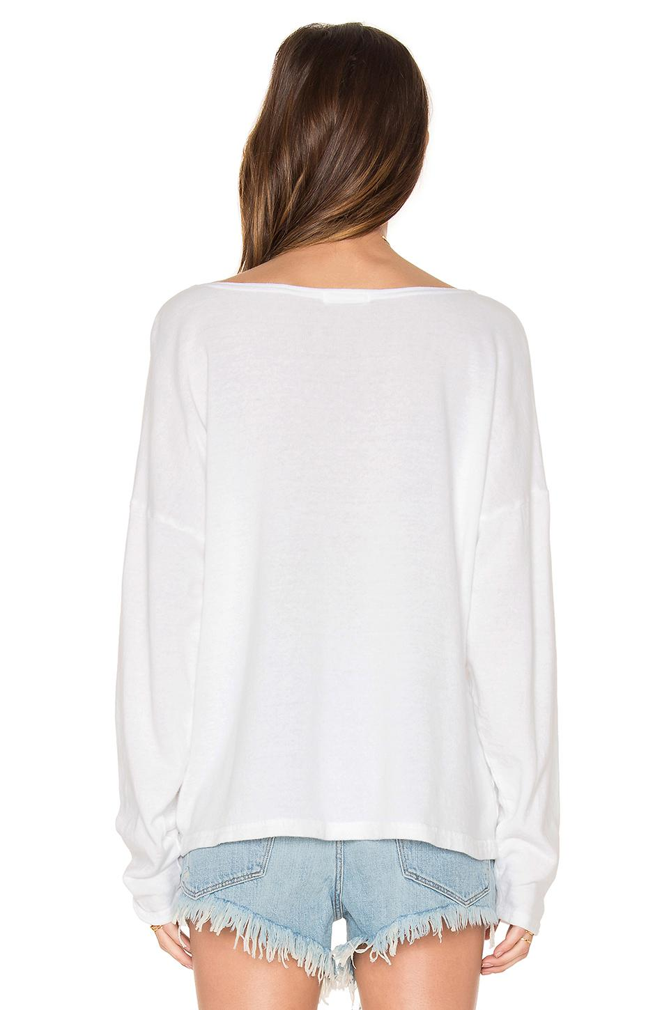 1c904282b22 CP Shades Brittany French Terry Top in White - Lyst