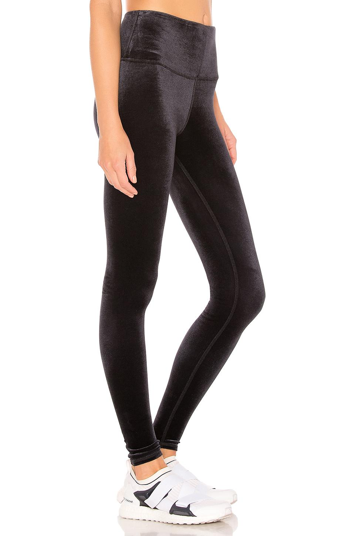 0b80ccaec3bf5 Alo Yoga - High Waist Posh Velvet Legging In Black - Lyst. View fullscreen