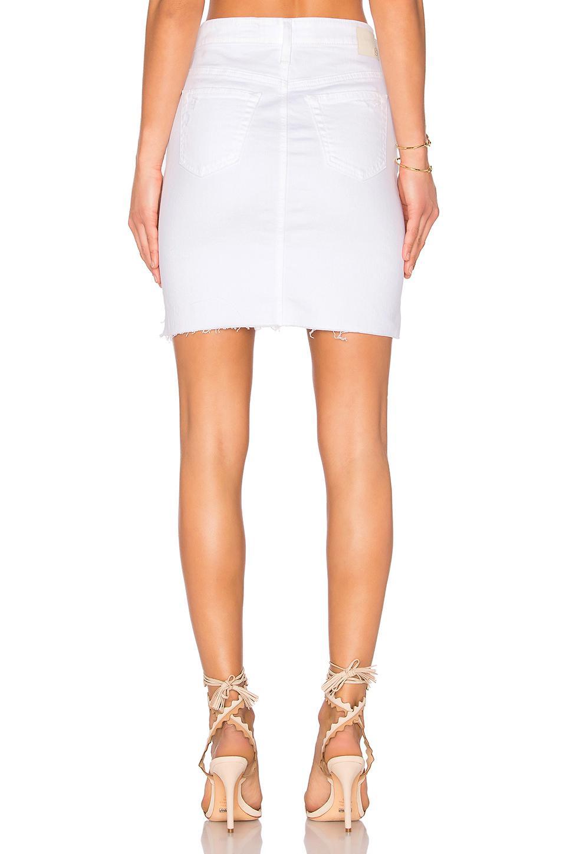 436c5735ae2 Lyst - AG Jeans Erin Denim Skirt in White