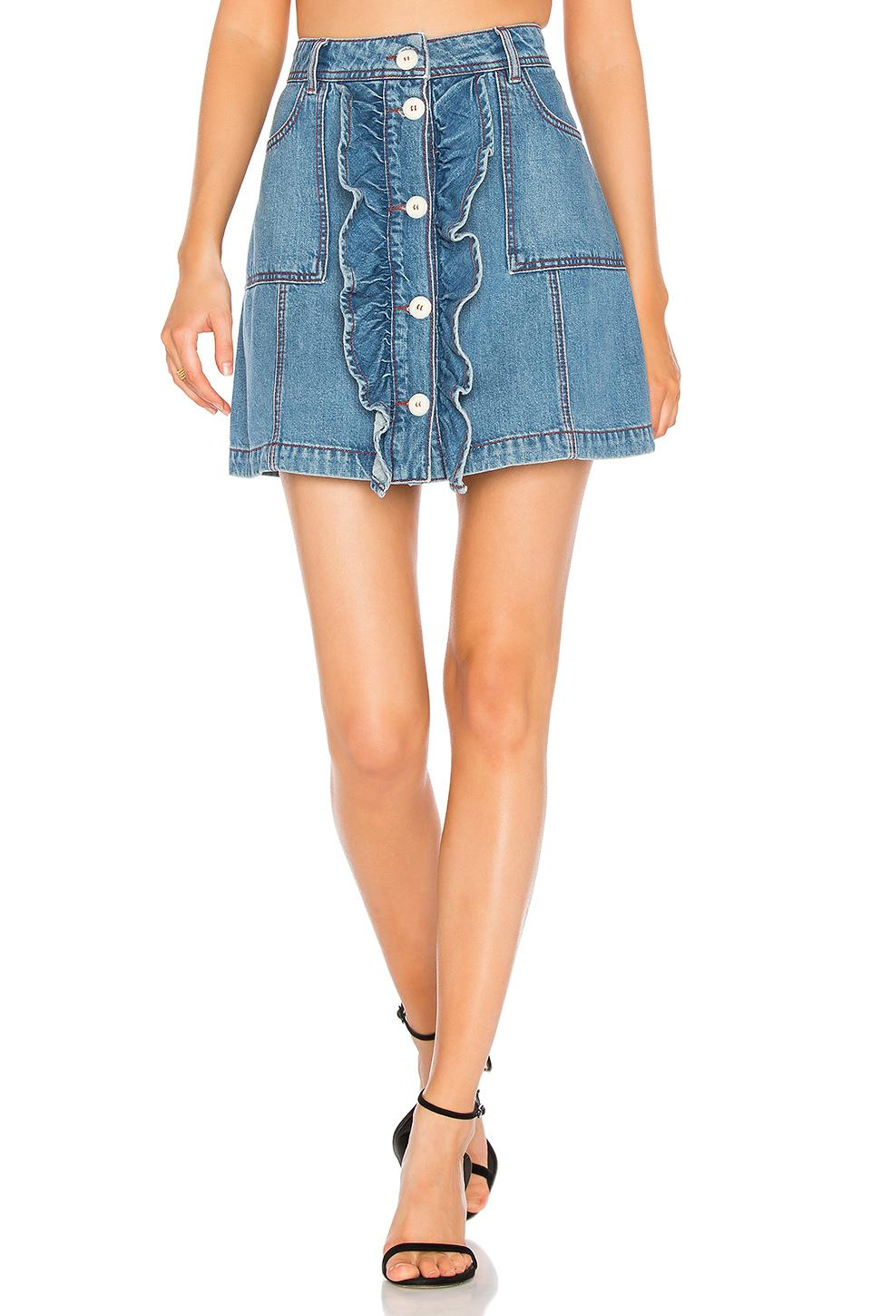 Bluebell denim skirt Ganni Cheap Sale Very Cheap Zjg4x