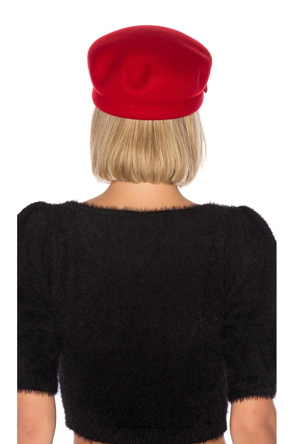 4235c528959 Lyst - Eugenia Kim Sabrina Hat in Red - Save 44.72727272727273%