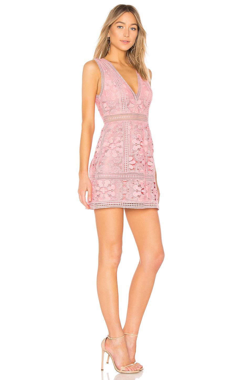 8e17af2cba7c Alice + Olivia Zula Lace Dress in Pink - Lyst