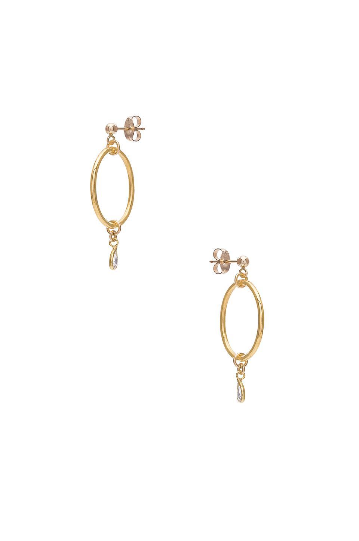 Lara Earring in Metallic Gold Haati Chai 0FRGEi8u