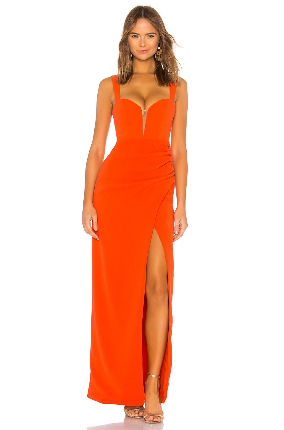 a938aa4f044 Lovers + Friends Dolores Gown in Orange - Lyst