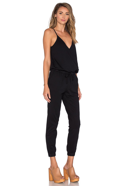 Lyst Bobi Supreme Jersey Surplice Jumpsuit In Black