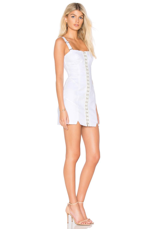 299afecad479 For Love & Lemons Monika Hook Front Mini Dress in White - Lyst