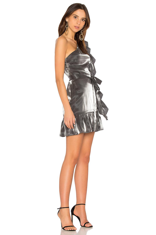 be61bfeb776 Karina Grimaldi - Multicolor Fernanda Mini Dress In Metallic Silver - Lyst.  View fullscreen