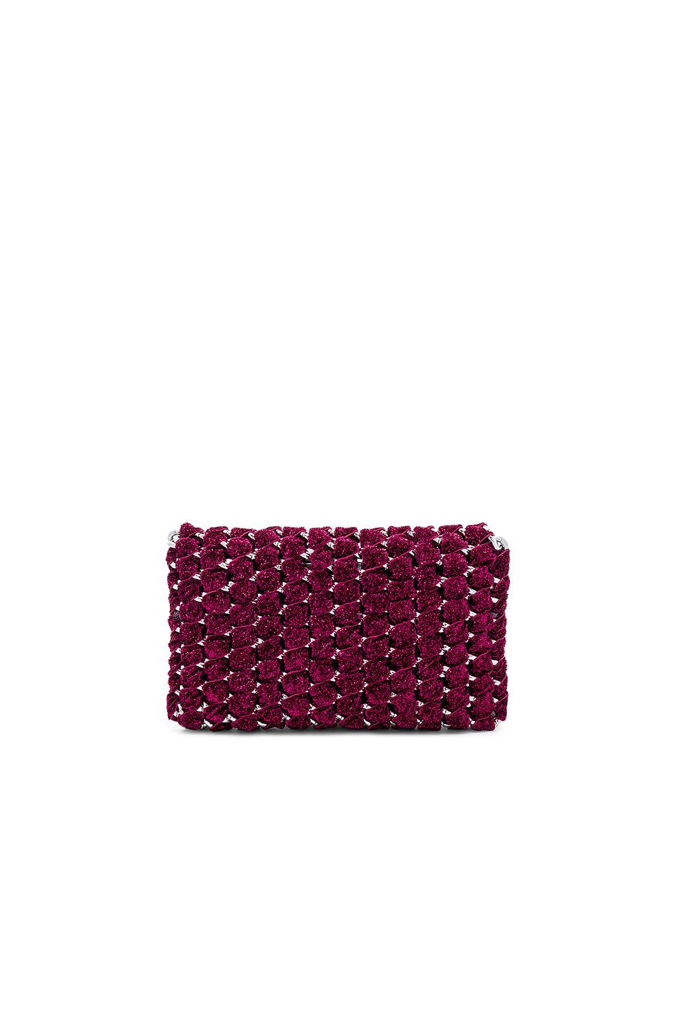 90fa05b238 TAMBONITA - Purple Eve Shimmer Clutch With Silver Chain - Lyst. View  fullscreen