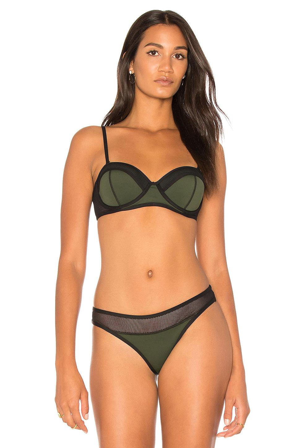 b6f590cfafe15 Kendall + Kylie X Revolve Mesh Mix Bustier Top in Black - Lyst