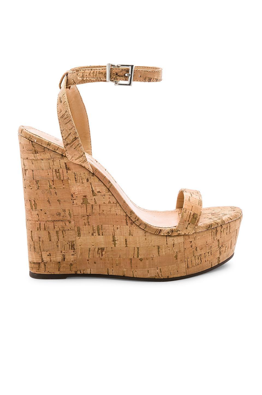 b0968345d9d Lyst - Schutz Women s Eduarda Platform Wedge Sandals in Natural