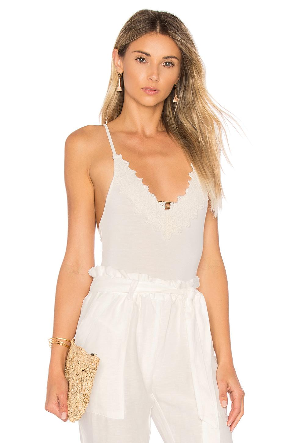 a891021cd Free People Gia Bodysuit in White - Lyst