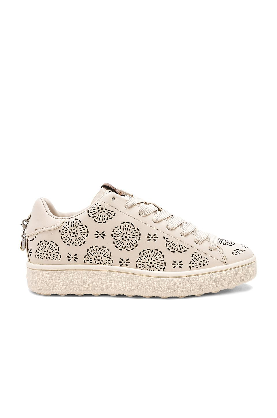 Coach TEA ROSE EYELETS - Trainers - gold/gold