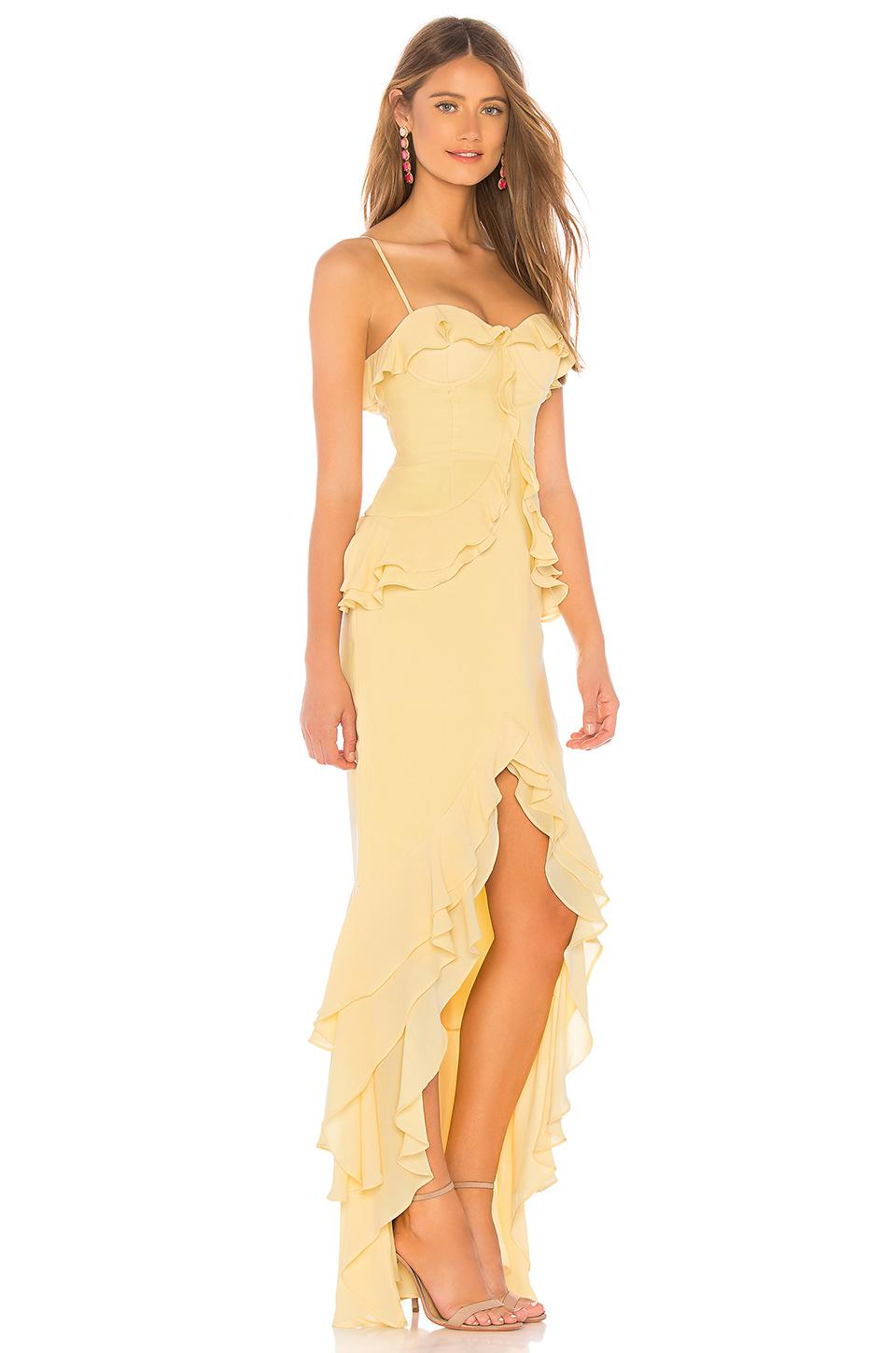 Lovers Friends Melissa Gown In Yellow In Yellow Lyst